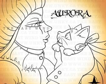 Digital stamp- Aurora 'The Best Gift Ever' - 300 dpi 4 JPEG/PNG files - MAC0127