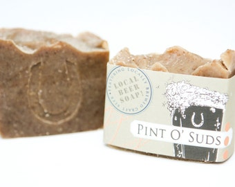"""Cold Process Vegan Beer Soap, """"Pint O' Suds"""" soap, Handmade, Victoria BC, Vancouver Island"""
