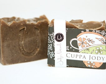 "Coffee Clove Cold Process Vegan Soap, ""Cuppa Jody"", Kitchen Soap, Gardener Soap, Hand crafted, Victoria BC, Vancouver Island"
