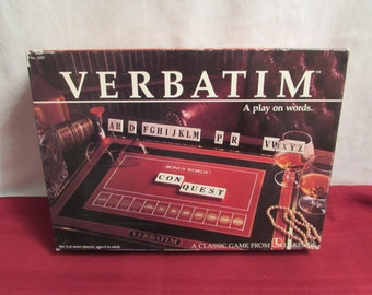VERBATIM 1985 Classic Word Game from Lakeside Games