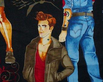 HALLOWEEN Twilight Quilting Cotton - Alexander Henry - October Moon - Hunks - Pinup - Vampires - Werewolves - HALF YARD