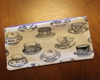 Tea Cup Zipper Pouch