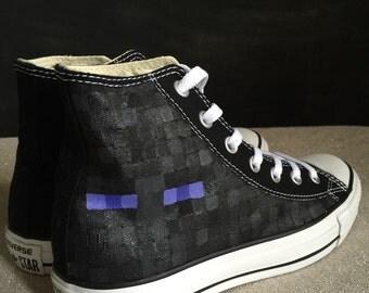 Custom Adult Converse MineCraft Enderman
