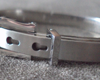 Stainless Steel Buckle Adjustable Cuff Slave Bracelet BDSM Kink Fetish Jewelry