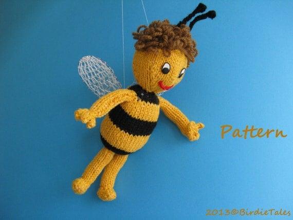 tricoter une abeille en laine