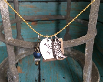 Walk in Your Truth Metal Stamped Charm Necklace