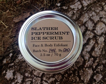 SLATHER PEPPERMINT ICE Scrub (Natural Exfoliant for Face & Body)