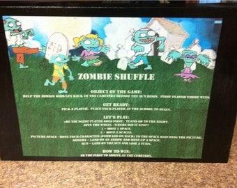 Zombie Shuffle Board Game