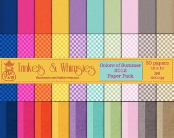 Colors of Summer 2012 Digital Scrapbook Papers