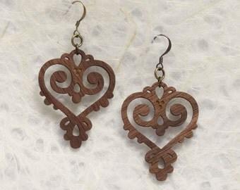 Walnut Eco Friendly Wood Earrings