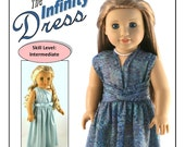 Pixie Faire Forever 18 Inches Infinity Dress Doll Clothes Pattern for 18 inch American Girl Dolls - PDF
