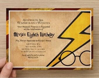 Harry potter invitation – Etsy