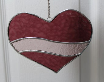 Stained Glass *Heart Valentine,Suncatcher,Mother's Day Gift,Window Hanging,Handmade Gifts,Gift for Her,Love,Romance