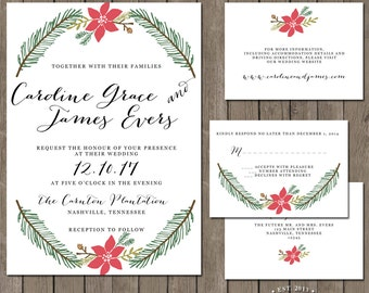 Printable Wedding Invitation Suite - the Very Merry Collection
