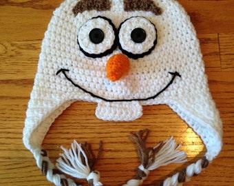Frozen Olaf Snowman Crochet Hat