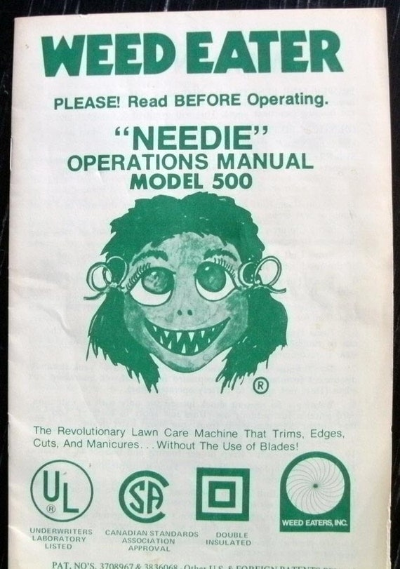 Items Similar To Weed Eater 1976 Operating Manual Model