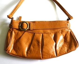 Small Vintage Handbag in Caramel Colour