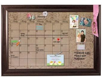 family calendar framed monthly calendar