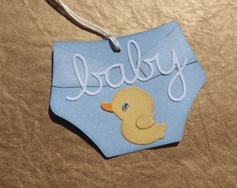 Baby Diaper Tag, Baby Gift Tag, Baby Shower Tag, Gift Tag, Diaper, Baby Boy