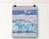 Fine Art Photography, Hubbard Glacier, Landscape Photo, Alaska, Blue