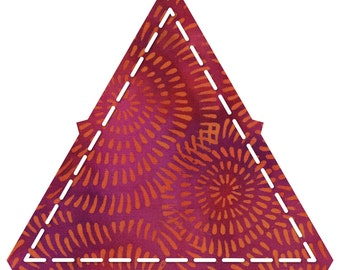 """Quilter's 4-1/2"""" x 4-1/2"""" x 4-1/2"""" Inch Triangle Die Cuts Stash Bag - 200 pieces"""
