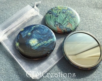 Van Gogh / Monet Pocket Mirrors - Party Favor - Gifts - Shower Favors