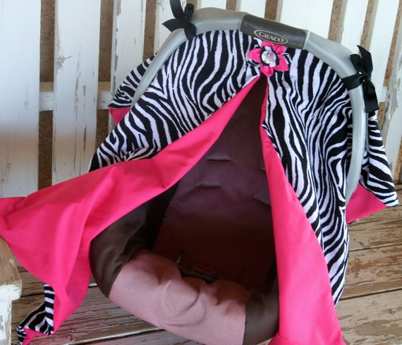 Like this item? & hot pink and zebra print car seat canopy cover