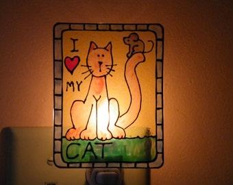 I Luv My Cat Night Light