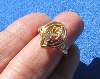 Vintage Rhinestone Adjustable Ring Repair