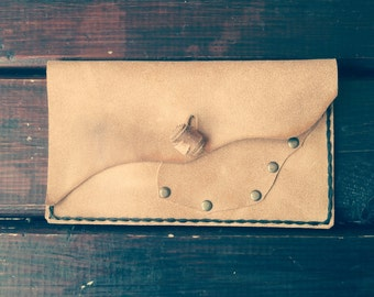 Tobacco pouch leather, pipe holder, cigarette pouch, simple wristlet, small wallet