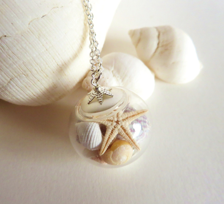 sea shell jewelry seashell necklace starfish necklace shell