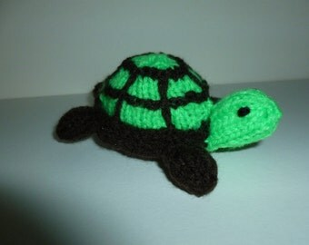 Knitted baby tortoise