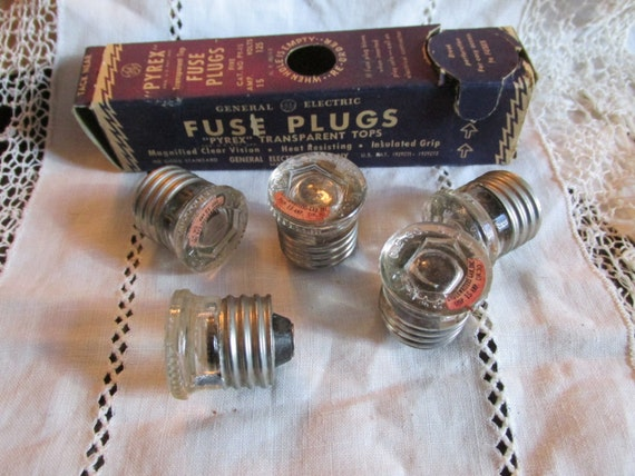 old fuse box panel service 15 amp old fuse box vintage box of 5 pyrex fuse plugs ge 15 amp general ...