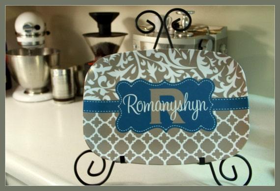 Personalized Platter Monogram Platter Custom Platter Serving Platter Hostess Wedding Gift Housewarming Gifts for Mom Monogrammed