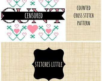 Subversive Cross Stitch Pattern - Funny Cross Stitch - PDF Pattern - Instant Download