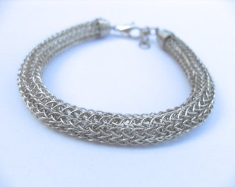 Viking knit bracelit sterling silver