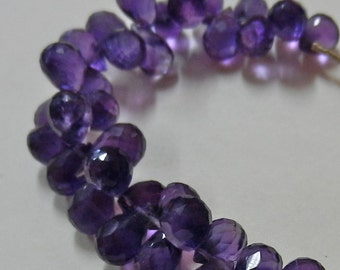 Delicious Strand Of Round Deep Purple Amethyst Briolette Beads From Jaipur, India 34 Pieces 53.5 Carats