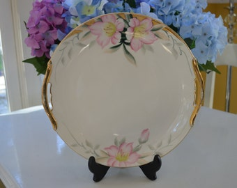 vintage Noritake Azalea handled plate, platter, 19322, hand painted Japan