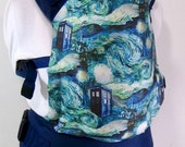 Doctor Who Full Buckle Baby Carrier, Whovian Babywearing, Doctor Who SSC,SSC Baby Carrier,Mens Baby Carriers,Geek Baby Nursery,Dr Who TARDIS
