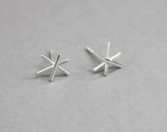 Earrings Small Star In Silver