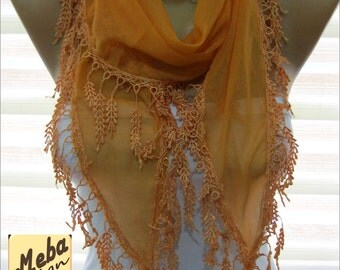 Orange scarf ,women scarves -  fashion scarf - gift scarves -Fashion accessories- for her- christmas gift