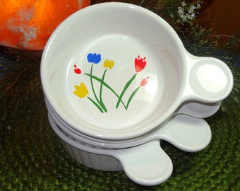 Set of 4 Interpur of Japan Ceramic Crocks / Individual Servers