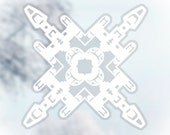 Star Wars Snowflake Window Cling Decals: Set #3