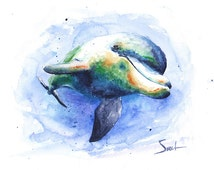 popular items for dolphin home decor on etsy removable dolphin wall decal home decor art wall stickers