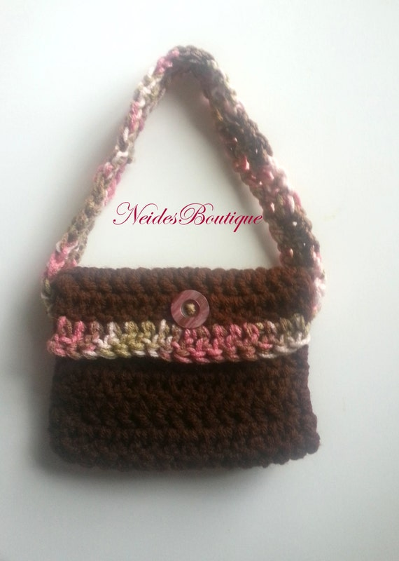 Toddler Crochet Purse Pattern : Toddler purse Crochet little girls purse mini crochet
