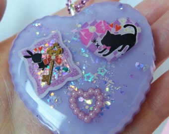Resin Tea Party Necklace: RESIN ADVENTURES Lilac Alice in Wonderland Resin Necklace