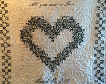 Heart Quilt Fabric Kit