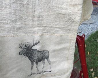 Moose floursack tea towel