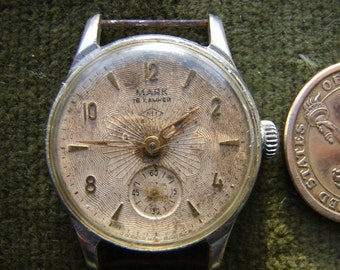 Rare Vintage Serviced Mechanical Wrist Watch Majak Pchz with MCHZ 1 movement and spider dial /  1955 Y USSR Hi-Grade 16 Jewels / like Pobeda