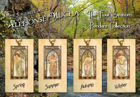 Alphonse Mucha The Seasons 1897 Pendant